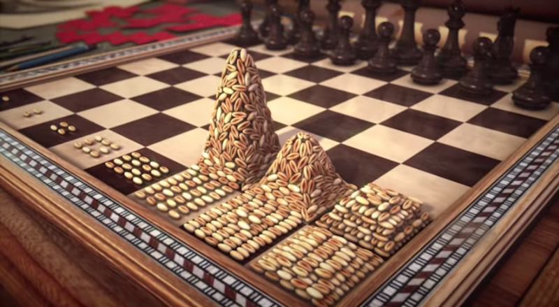 The Indian Story Used to Explain rO: Chess and Indian Mathematics
